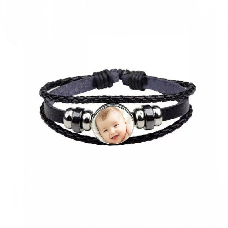 bracelet cuir noir photo