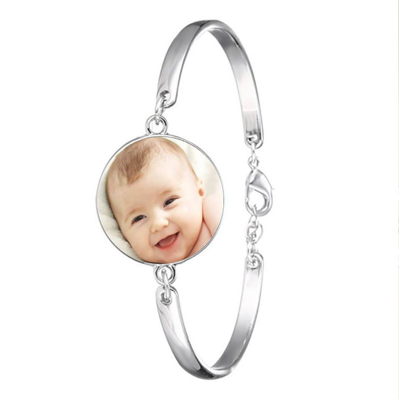 bracelet photo acier inoxydable